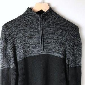 Calvin Klein zip up sweater men's Large